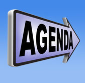 Agenda sign — Stock Photo