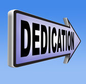 Dedication sign — Stock Photo