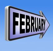 February sign — Stock Photo
