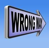Wrong way sign — Stok fotoğraf