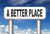 Better place working for change — Stock Photo