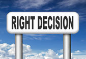 Right decision or choice — Stock Photo