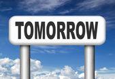 Tomorrow programmation — Stock Photo