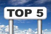 Top 5 charts — Stock Photo