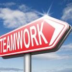 Teamwork road sign — Stock Photo #54909793