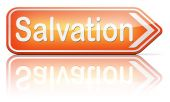 Salvation save your soul pray to jesus — Stock Photo