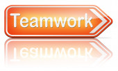 Teamwork coorporation — Stock Photo