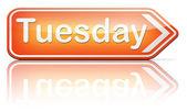 Tuesday sign — Stockfoto