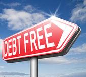 Vrij van schulden — Stockfoto