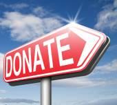 Donate charity — Stock Photo