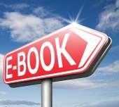 E-book sign — Stok fotoğraf