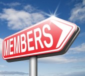 Members only — Stock Photo