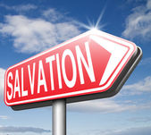 Salvation save your soul pray to jesus — Stockfoto