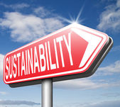 Sustainability road sign — Foto Stock