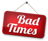 Bad times — Stock Photo