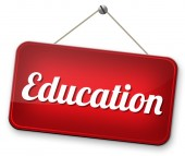 Education sign — Stock Photo