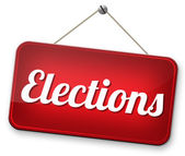 Elections sign — Stockfoto