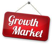 Growth market — Stock Photo