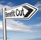 Benefit cut — Stockfoto