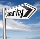 Charity donation — Stock Photo
