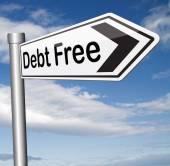 免费的债务 — 图库照片