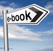 E-book sign — Stock Photo