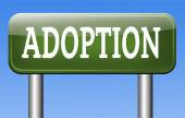 Adoption child — 图库照片