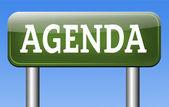 Agenda sign — Zdjęcie stockowe