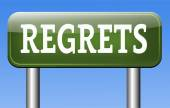 Regrets sign — Stock Photo