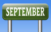 September sign — Stock Photo