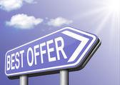 Best offer — Stock Photo