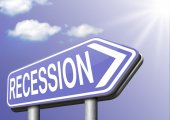 Recession sign — Stock Photo