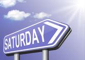 Saturday week next — Foto Stock