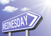 Wednesday week next — Stock Photo