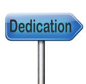 Dedication sign — Stock Photo