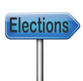 Sinal de eleições — Fotografia Stock