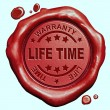 Life time warranty stamp — Stock Photo #57111469