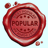 Most popular stamp — Stock Photo