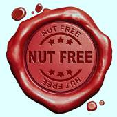 Nut free stamp — Stock Photo
