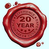 Experiência de 20 anos — Fotografia Stock