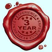3 anos de experiência — Fotografia Stock