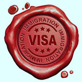 Visa immigration — Stock Photo