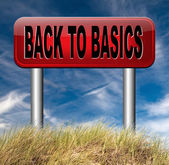 Back to basics — Stock Photo
