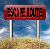 Escape route to safety — Stock Photo