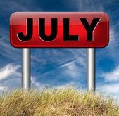 Next july — Stock Photo