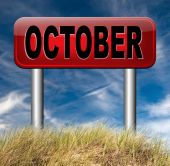 October next fall month — Stock Photo