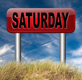 Saturday week next — Stock Photo