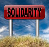 Solidarity sign — Stock Photo