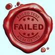 Failed test stamp — Stock Photo #57216153