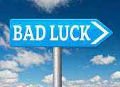 Bad luck misfortune — Stock Photo